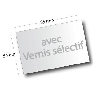 Cartes De Visite Avec Vernis Selectif 85x54cm