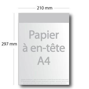 Papier à en-tête A4 (21x29,7cm)