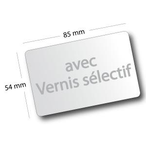 Cartes De Visites Coins Arrondis Vernis Slectif 85x54cm