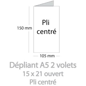 Dépliants A5 ouvert (15x21cm)