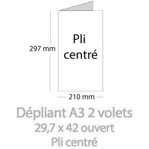 Dépliants A3 ouvert (29,7x42cm)