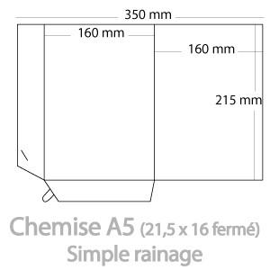 Chemises A5 (21,5x16cm fermé)