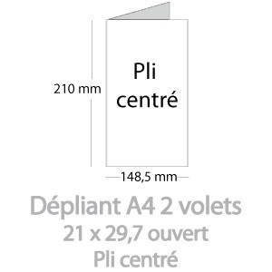 Dépliants A4 ouvert (21x29,7cm)